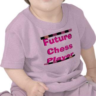 Future Chess Player Children Pink Girly Chess Tee