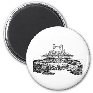 Future City 6 Cm Round Magnet