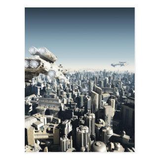 Future City Under Attack Postcard