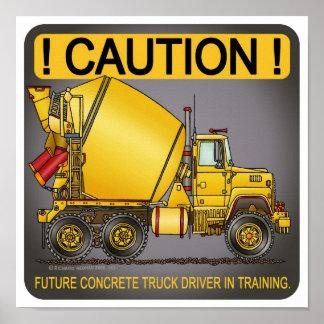Future Concrete Truck Driver Poster Print