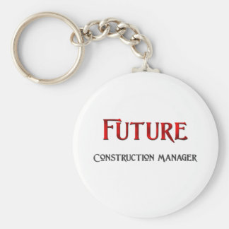 Future Construction Manager Keychains