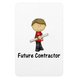 future contractor rectangular photo magnet