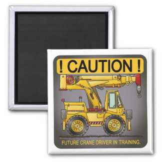 Future Crane Truck Driver Magnet