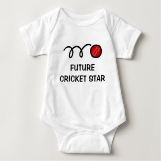 Future cricket player | Cute baby clothing Baby Bodysuit