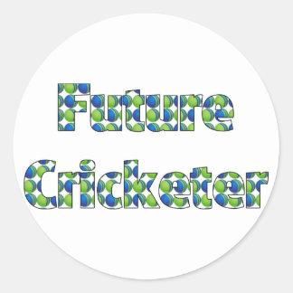 Future Cricketer or Cricketer in Training Round Sticker