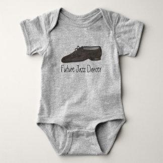 Future Dancer Black Jazz Shoe Dance Teacher Gift Baby Bodysuit