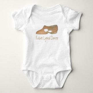 Future Dancer Tan Lyrical Shoe Dance Teacher Gift Baby Bodysuit