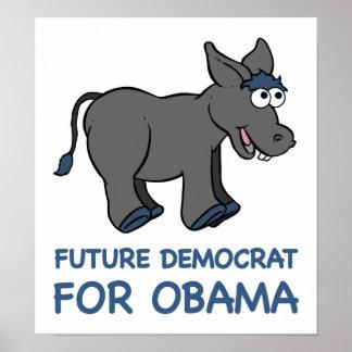 Future Democrat Obama Poster
