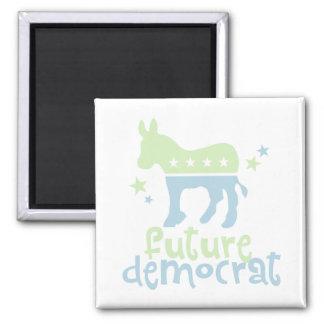 Future Democrat Square Magnet