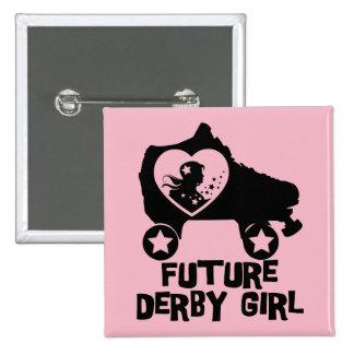 Future Derby Girl, Roller Skating design for Kids 15 Cm Square Badge