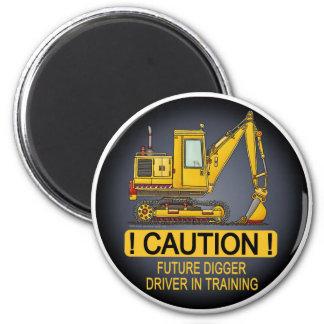 Future Digger Shovel Driver Magnet