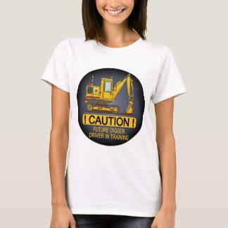 Future Digger Shovel Driver Womens T-Shirt