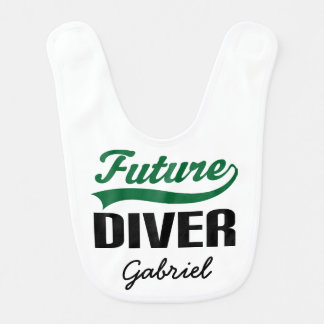 Future Diver Personalized Baby Bib
