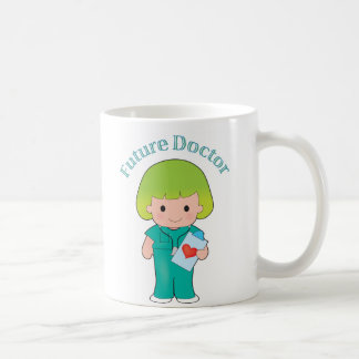 Future Doctor Girl Basic White Mug