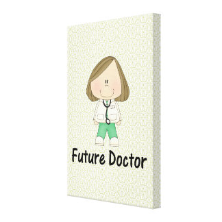 future doctor girl stretched canvas prints