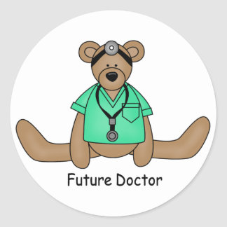 Future Doctor Round Sticker