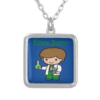 Future Doctor Silver Plated Necklace