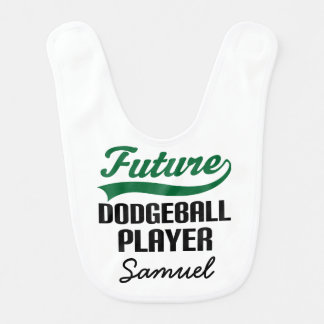 Future Dodgeball Player Personalized Baby Bib