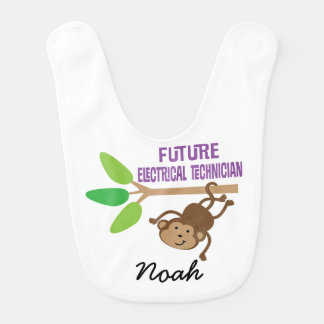 Future Electrical Technician Personalized Baby Bib
