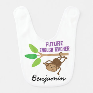 Future English Teacher Personalized Baby Bib