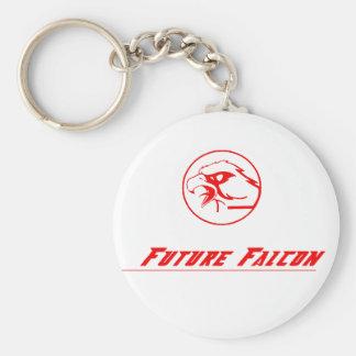 future falcon kechain basic round button key ring