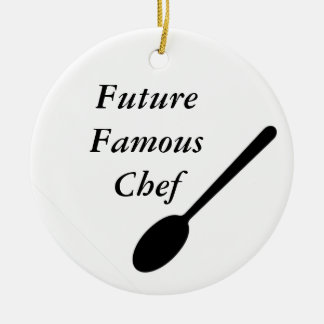 Future Famous Chef Ceramic Ornament
