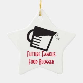 Future Famous Food Blogger Ceramic Ornament