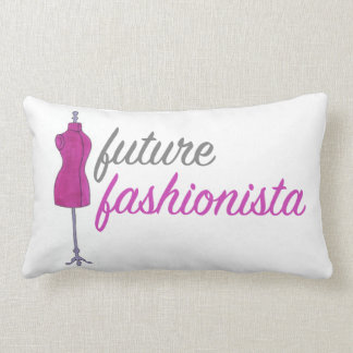 Future Fashionista Sewing Fashion Design Mannequin Lumbar Cushion