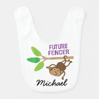 Future Fencer Personalized Baby Bib