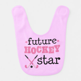 Future Field Hockey Star Sports Baby Bib