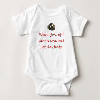 Future Firefighter Baby Bodysuit