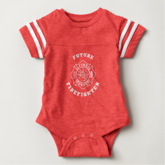 Future Firefighter Baby Football Bodysuit