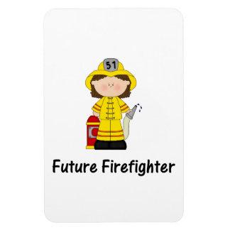 future firefighter (girl) rectangular photo magnet