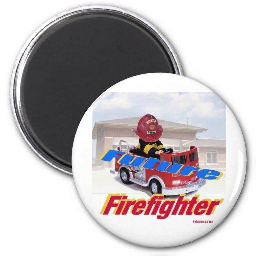 Future FireFighter Refrigerator Magnet