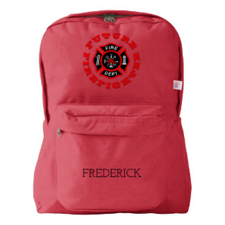 Future Firefighter Maltese Cross Personalized Name Backpack