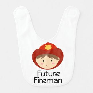 Future Fireman Baby Bib