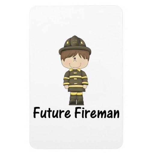 future fireman rectangular magnets