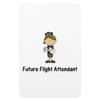 future flight attendant rectangular photo magnet