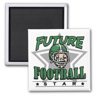 Future Football Star Square Magnet