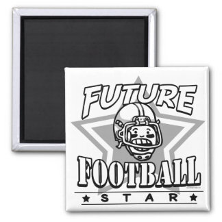 Future Football Star White Helmet Square Magnet