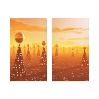 Future Forest Wrapped Canvas Stretched Canvas Print