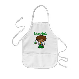 Future Geek  Dark Skin Kids Apron