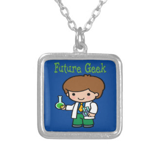 Future Geek Silver Plated Necklace