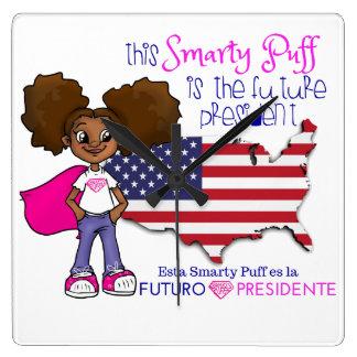 Future Girl  President Bilingual Clock