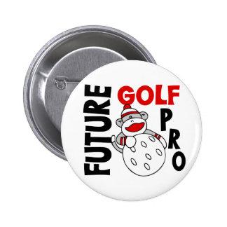 Future Golf Pro Sock Monkey 6 Cm Round Badge