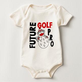Future Golf Pro Sock Monkey Baby Bodysuit