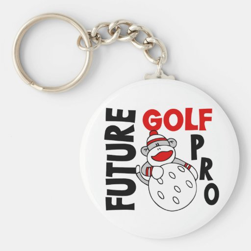 Future Golf Pro Sock Monkey Key Chain