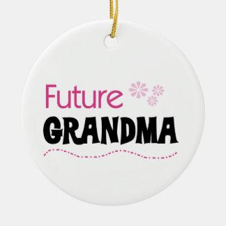 Future Grandma Gifts Ceramic Ornament
