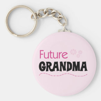 Future Grandma Tshirts and Gifts Basic Round Button Key Ring
