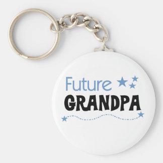 Future Grandpa Basic Round Button Key Ring